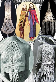 crazy macrame fashion- I doubt I would wear any of it but that lamp is pretty neat!