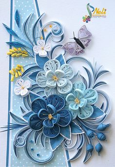 Neli Quilling Art: Quilling cards … More - Crafts All Over Neli Quilling, Paper Quilling Cards, Quilling Work, Paper Quilling Tutorial, Paper Quilling Flowers, Paper Quilling Patterns, Quilled Paper Art, Quilling Craft, Quilling Ideas