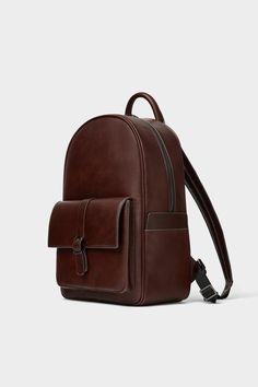 Brown Backpacks, Vintage Backpacks, Black Leather Backpack, Leather Bag, Backpack Bags, Fashion Backpack, Men Clutch Bag, Back Bag, Zara Bags