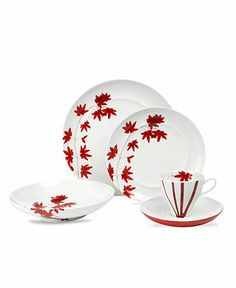 Mikasa Dinnerware Pure Red Collection Fine China Dining Entertaining Macys