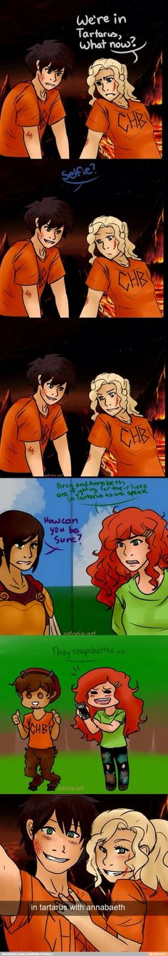Percabeth only thing is that phones attract to many monsters so....