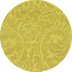 Dalyn Rug Co. Bella Yellow Area Rug Rug Size: Round 6'