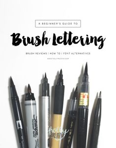 A Beginner's Guide to Brush Lettering Types Of Lettering, Lettering Styles, Brush Lettering, Lettering Design, Brush Script, Calligraphy Letters, Typography Letters, Modern Calligraphy, Creative Lettering