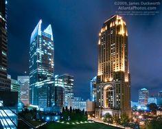 Midtown Blue Skyline CrazyATLANTA.com @TheCrazyCities.com