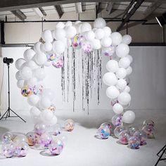 Beautiful balloon arch made by @bonbonballoons