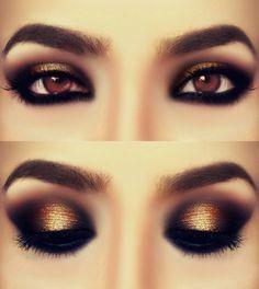 lovely golden smokey eye