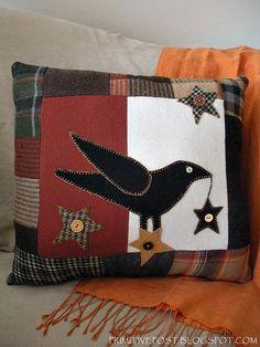Primitive Autumn Decor | Decorative Crow Pillow Primitive Autumn Decor by ... | Fall