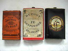 Civil War era gunpowder tins