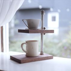 Handmade Coffee Pour-over Stand with Ceramic Coffee Dripper