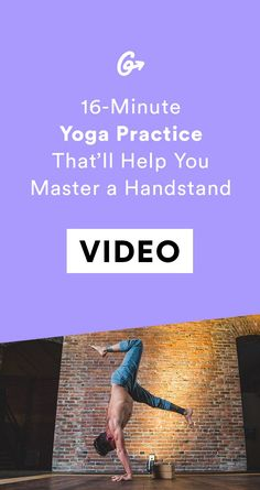 You don't even need to be a gymnast. #greatist https://greatist.com/fitness/how-to-do-a-handstand-a-yoga-practice-video