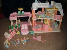 1991 Playskool Victorian Doll House Loaded Vintage Dollhouse Doll