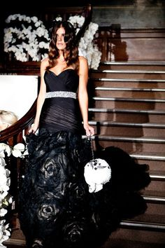 25 Stylish And Dramatic Black Wedding Dresses