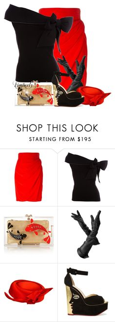 """""""Charlotte Olympia Carp Pandora Perspex clutch"""" by cavell ❤ liked on Polyvore featuring Versace, RED Valentino, Charlotte Olympia and Aspinal of London"""