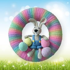 "Crochet Pattern  wreath pattern  crochet eastern  by Petrapatterns ~ 10"" in diameter ~ CROCHET ~ great one for Easter time"