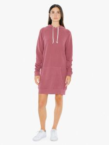 French Terry Hoodie Mini Dress   American Apparel
