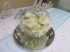 Image result for fish bowl candle centrepiece