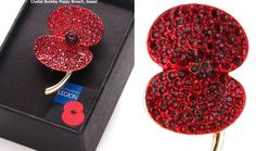 07.11.2015 She also wore her Buckley poppy brooch again, this is an item still offered by the Legion