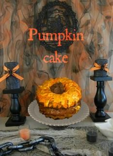 Pumpkin cake: Satisfy your sweet tooth with this Halloween dessert!