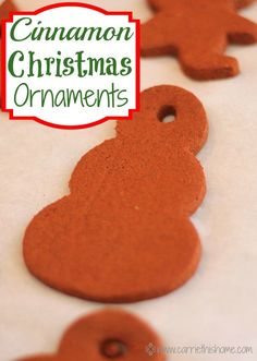 Cinnamon Christmas Ornaments Activity.  This is a fun activity to do with kids and the ornaments smell awesome for years!