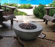 Fire Features - Deck Flame Fire Table, Fire Bowls, Deck, Outdoor Decor, Modern, Romance, Trendy Tree, Romances, Decks