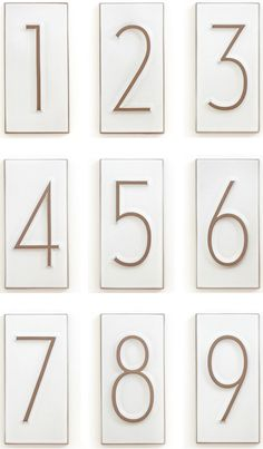 neutra house numbers | house industries + heath ceramics