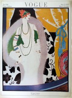 Vintage Vogue Cover Poster Print Full Color by millpondvintage, $19.00