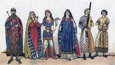 Одежда европейского средневековья: романский стиль (XI-XIII вв.).