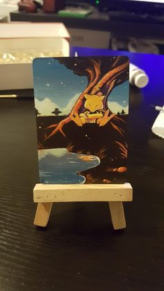 Normally I paint mtg cards but here's an Abra I did :)