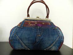 denim accessoriesdenim bag embellished denim by LinhaBinha on Etsy
