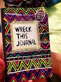 """I am obsessed with """"Wreck Me Journal""""s...like I don't have one but I'm getting one! They look awesome!"""