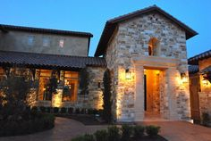 Hill Country Tuscan Home with Courtyard mediterranean exterior #CourtYard #Landscape #Outdoor  ༺༺  ❤ ℭƘ ༻༻  IrvineHomeBlog.com
