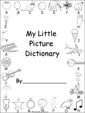 free printable picture dictionaries for young writers from