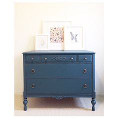 This piece painted in Homestead Blue  #fusionpaint by @lemondropsreclaimed !! Great work!!