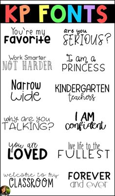 Script, decorative, serif, and handwritten fonts for personal and commercial use! Student Teaching, Teaching Tools, Teacher Fonts, Silhouette Fonts, Fancy Fonts, Cricut Fonts, Project Based Learning, Handwritten Fonts, Hand Lettering
