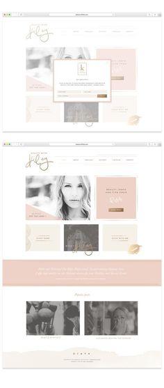 Beauty With Kiley Website Design by Mel Volkman