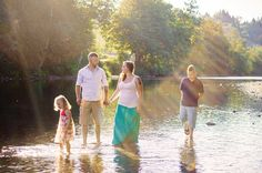 Family Portraits Arlington WA Stilliguamish River Water Siblings Beach Laura Davis Photography