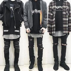 ** Streetwear daily - - - Check out our clothing label: www Androgynous Fashion, Tomboy Fashion, Trendy Fashion, Korean Fashion, Mens Fashion, Fashion Outfits, Mens Grunge Fashion, Tomboy Style, Fashion Ideas