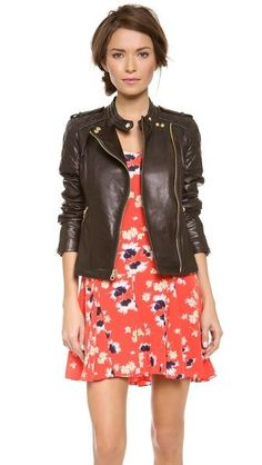 Juicy Couture Leather Moto Jacket {love the fit}