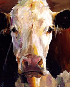 Gladys the Cow Painting  - Gladys the Cow Fine Art Print....I so want one of these paintings, and the fact that her name is Gladys...makes her perfect :)