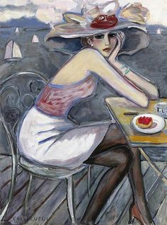 Jean-Pierre CASSIGNEUL. Born , 1935. French painter; studied at École des Beaux Arts , first exhibition there at age 17. Known for Van Dongen -influenced paintings of women in floral hats.