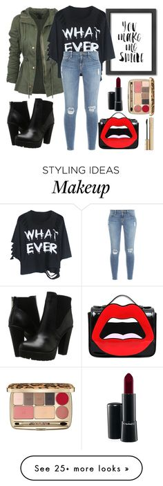 """You know then you don't !"" by shoukoula on Polyvore featuring Steve Madden, Americanflat, Frame Denim, Yazbukey, MAC Cosmetics and Dolce&Gabbana"