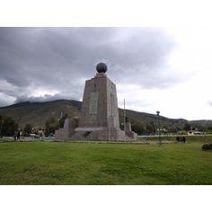 Middle of the World Monument Mitad Del Mundo Quito Ecuador Canvas Art - Panoramic Images (36 x 28)