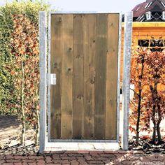 Toerchen-105x180-cm-Verzinkt-Holz-Tor-1-fluegelig-Holztor-Pforte-Gartentor-ANNA