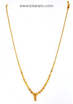 22K Gold Chain Necklace for Women - 235-GN1805 - Buy this Latest Indian Gold Jewelry Design in 13.150 Grams for a low price of  $713.84