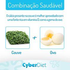Que tal couve mineira refogada com ovos? É uma boa combinação! Mais dicas como essa em: https://facebook.com/cyberdietoficial