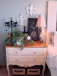 Bedroom vignette