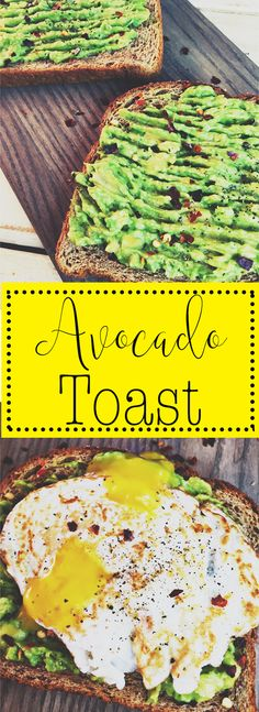Simple and quick breakfast! Avocado toast with a Sunny Side Egg! YUM