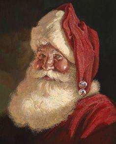 Santa Claus in art Christmas Scenes, Noel Christmas, Father Christmas, Vintage Christmas Cards, Christmas Pictures, Winter Christmas, Xmas, Christmas Mantles, Victorian Christmas