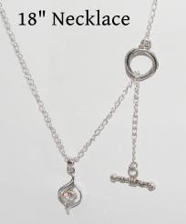 18k GP White Topaz Necklace Free Shipping