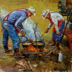 Saturday Night Special ARTIST: Xiang Zhang Western Theme, Western Art, Western Cowboy, Cowboy Pics, Cowboy Pictures, Cowboy Artwork, Frederic Remington, Cow Boys, Cowgirl And Horse